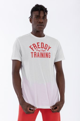 Short-sleeve t-shirt with a contrast lettering print