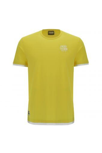 Men's 2-in-1 effect t-shirt with contrast embroidery