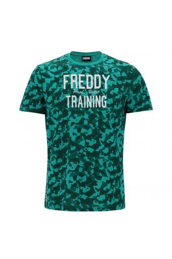 Camiseta de hombre con camuflaje de color estampado en contraste