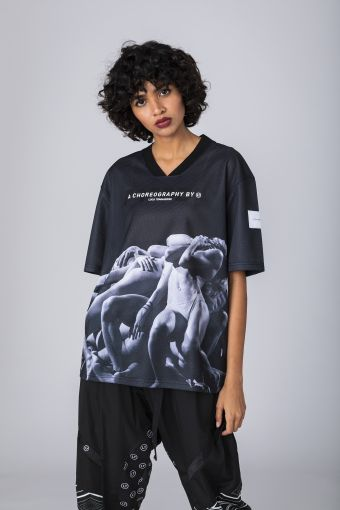 T-Shirt unisex in mesh, with print FREDDY A Choreography by Luca Tommassini