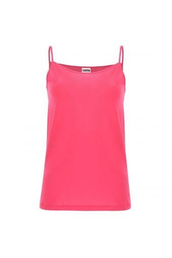 Lightweight cotton tank top with thin straps