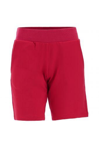 Bermuda shorts with slant pockets and a ribbed waistband