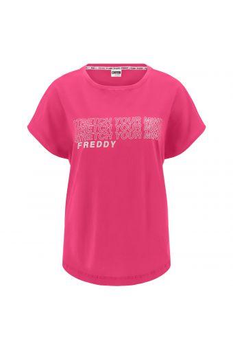 Komfort-T-Shirt mit weiten Ärmeln und Reflexaufdruck