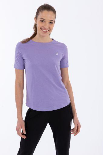 Camiseta regular de manga corta con estampado reflectante en la parte trasera