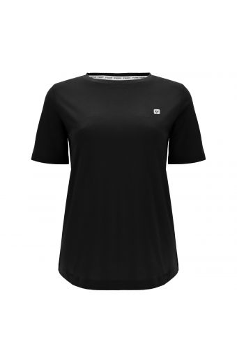 Short-sleeve regular-fit t-shirt with a reflective print on the back