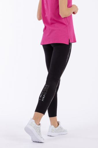 Heavyweight jersey leggings with sequin bands