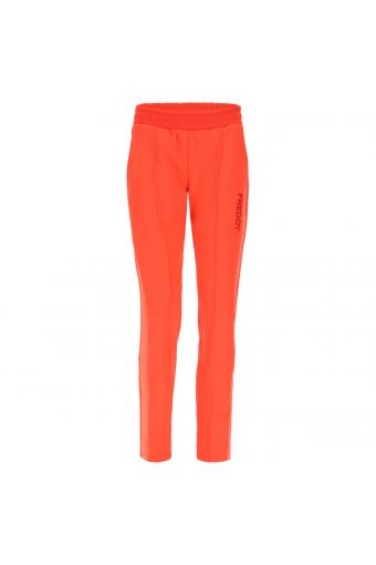 Trousers with a mesh lateral band