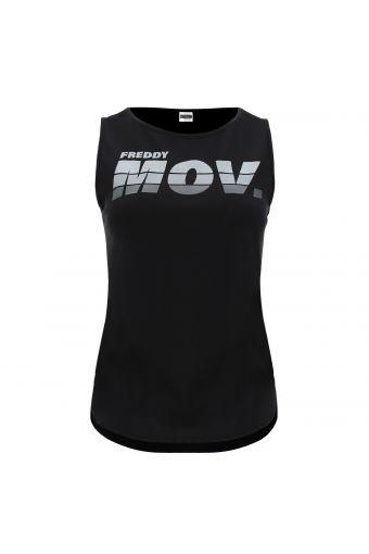 Ärmelloses Shirt mit breiten Trägern und dem Aufdruck .MOV