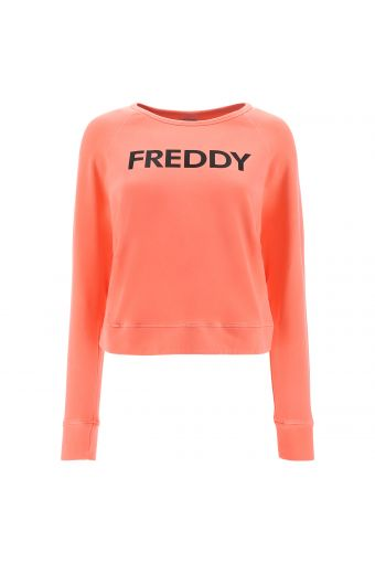Long-sleeve comfort-fit sweatshirt with a FREDDY print