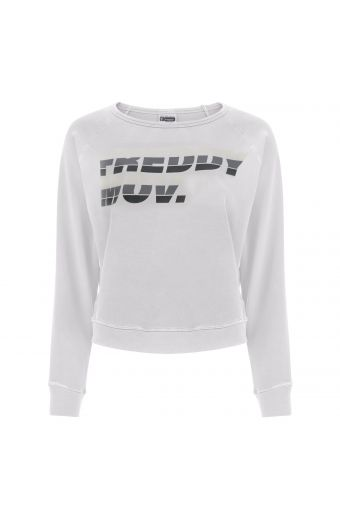Long-sleeve comfort fit sweatshirt with a .MOV print