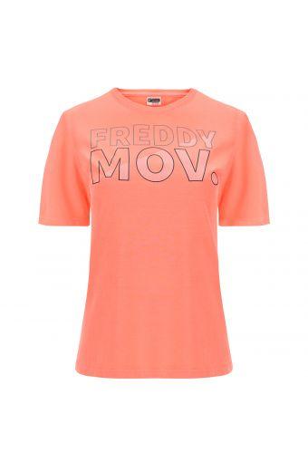 Short dolman sleeve t-shirt with a FREDDY MOV. print