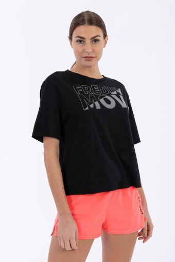 T-Shirt mit Kimonoärmeln und dem Aufdruck FREDDY MOV.