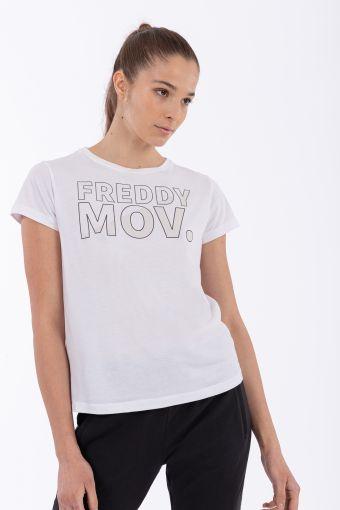 Reguläres T-Shirt mit dem Aufdruck FREDDY MOV.