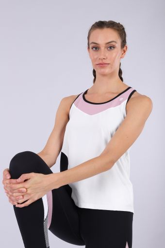 Women's racer back yoga tank top - 100% Made in Italy