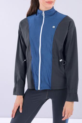 Women's zip-front yoga sweatshirt - 100% Made in Italy