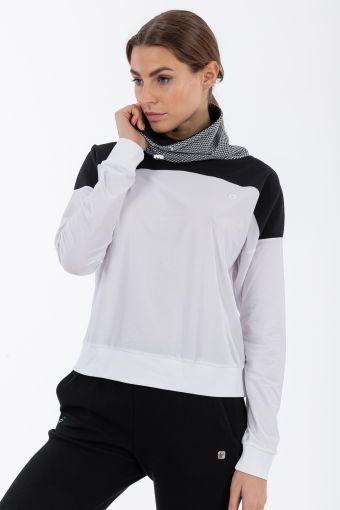 Women's high-neck yoga sweatshirt - 100% Made in Italy