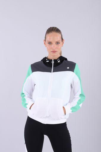 Women's zip-front yoga hoodie - 100% Made in Italy
