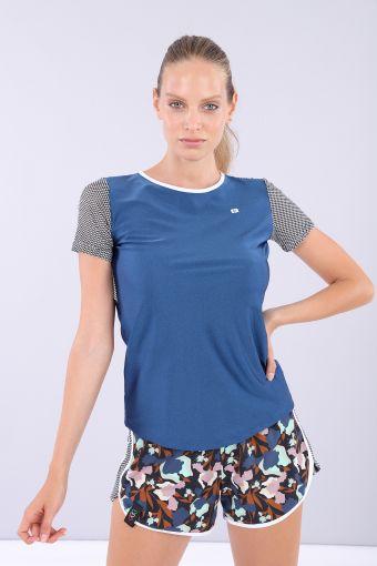 Women's short sleeve yoga t-shirt - 100% Made in Italy