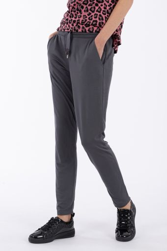 Modal trousers with a maxi drawstring