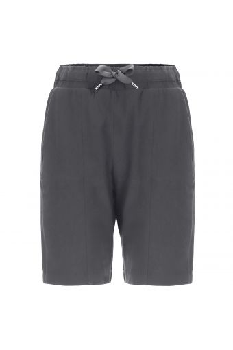 Stretch jersey Bermuda shorts with a maxi drawstring
