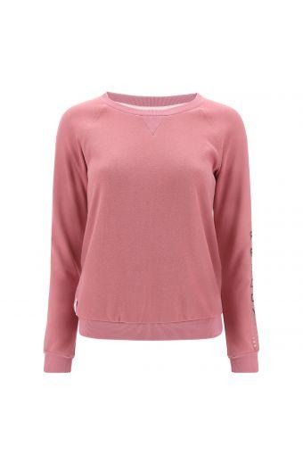 Lightweight crew neck plain-colour sweatshirt with raglan sleeves