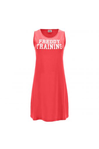 Dress with a contrast white FREDDY TRAINING print