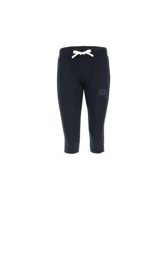 Lightweight corsair-length fleece trousers with a glitter print