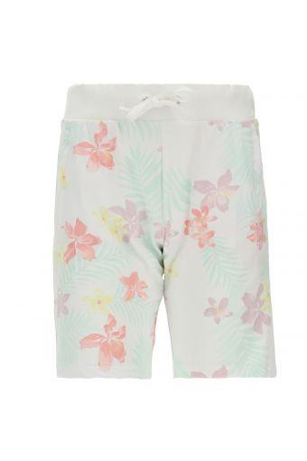 Bermuda-Hose mit Blumenmuster und Innentaschen