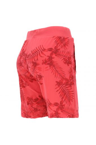 Floral print Bermuda shorts with besom pockets