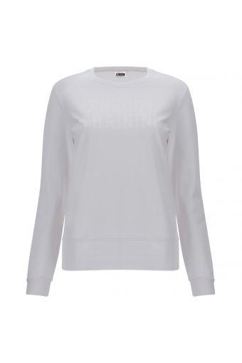 Einfarbiges Sweatshirt mit dem Glitzeraufdruck FREDDY TRAINING