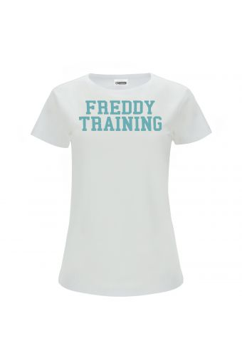 T-shirt with a contrast FREDDY TRAINING print