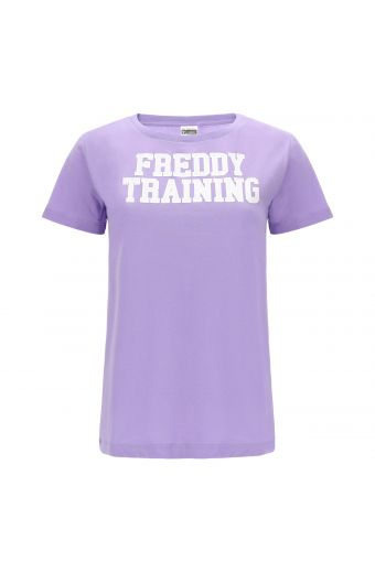 T-shirt with a contrast white FREDDY TRAINING print