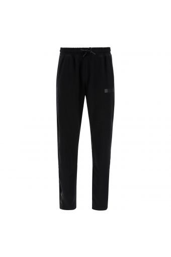 Tapered plain colour trousers with a drawstring