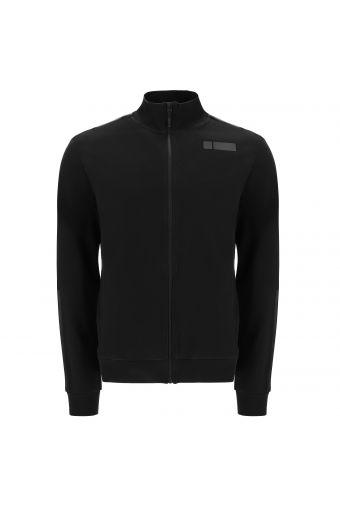 High-neck full-zip sweatshirt with tone-on-tone details