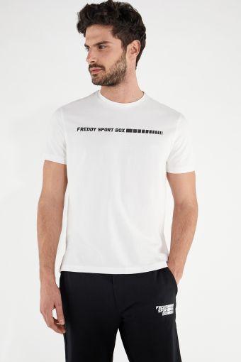 Camiseta con estampado minimalista FREDDY SPORT BOX