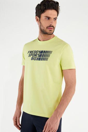 Camiseta elástica con estampado FREDDY SPORT BOX