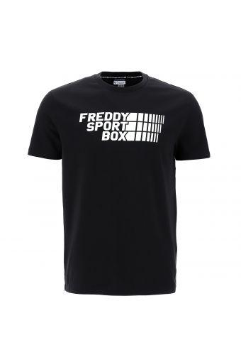 Stretch t-shirt with a FREDDY SPORT BOX print