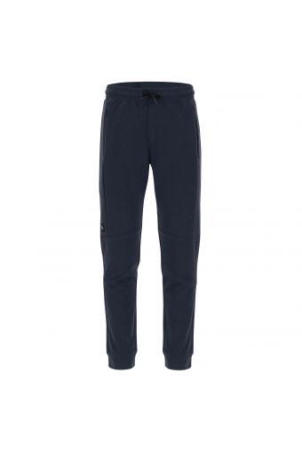 Pantalón de corte cónico de felpa ligera y bolsillos con cremallera
