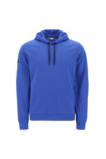 Stretch-Sweatshirt mit Kapuze und Reißverschlusstaschen