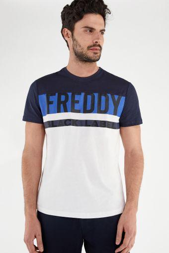 FREDDY BLACK LABEL t-shirt with a contrast yoke