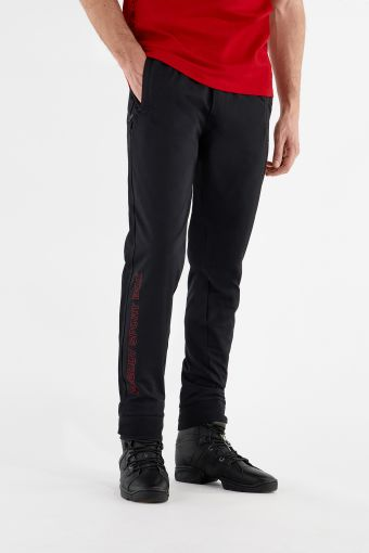 Pantaloni sportivi elasticizzati con stampa a fondo gamba