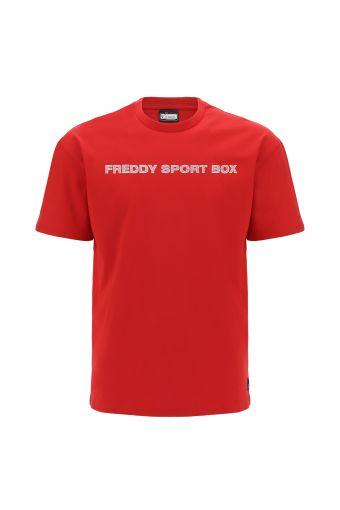 Camiseta cómoda con estampado FREDDY SPORT BOX con textura