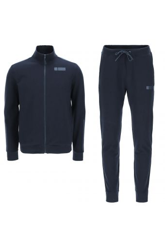 Men's high-neck track suit with tone-on-tone details