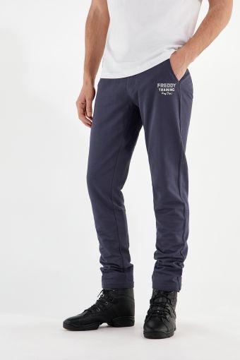 Pantaloni sportivi in felpa leggera con coulisse e fondo dritto