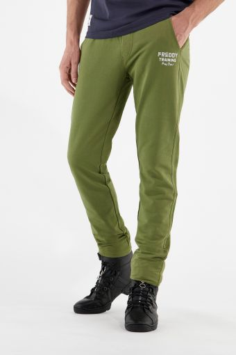 Lightweight fleece athletic trousers with a drawstring waist