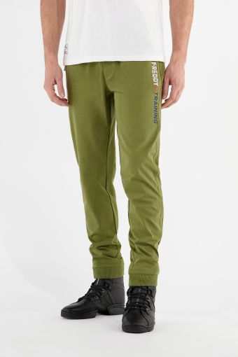 Joggers with a vertical FREDDY TRAINING print