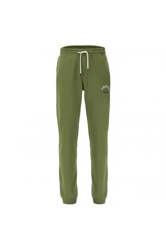 Sporty stretch joggers with a drawstring and cuffed ankles