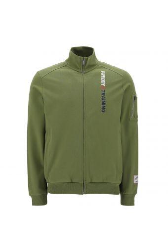 High neck FREDDY TRAINING sweatshirt with a zip pocket