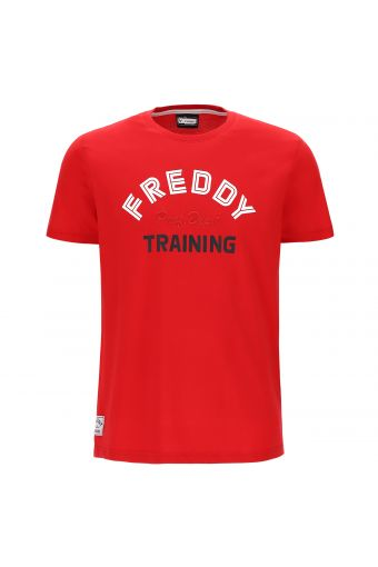 Lightweight t-shirt with a multi-colour FREDDY TRAINING motif
