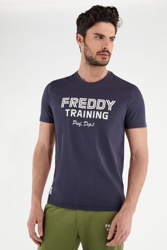 Lightweight jersey t-shirt with a FREDDY TRAINING print
